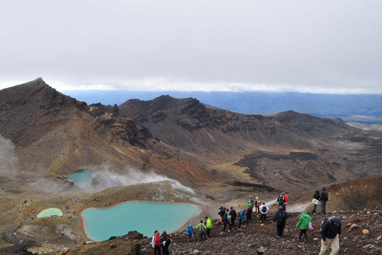 Emerald pools Tongariro Crossing