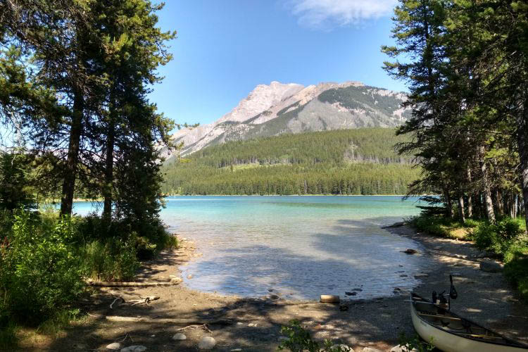 Two jack lake campground in Canada 10