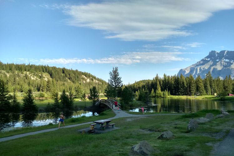 Two jack lake campground in Canada 15