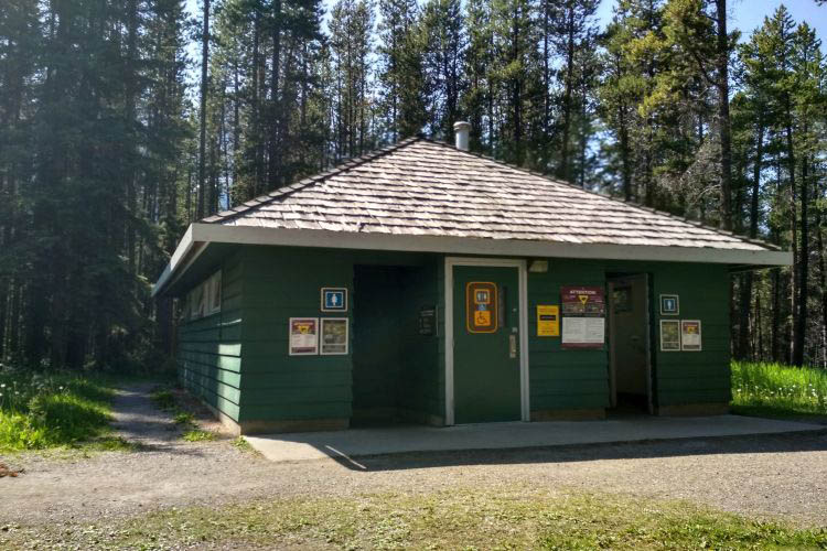 Two jack lake campground in Canada 6