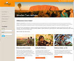 Webseite www.adventure-tours-australia.de
